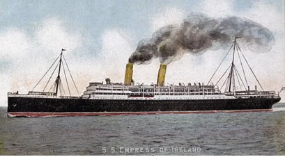 S.S. Empress of Ireland; By Unknown - Sjöhistoriska museet, Public Domain, https://commons.wikimedia.org/w/index.php?curid=42989236.