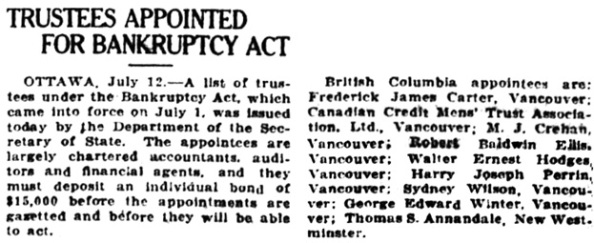 Victoria Daily Colonist, July 13, 1920, page 3; columns 5-6; http://archive.org/stream/dailycolonist62y179uvic#page/n2/mode/1up.