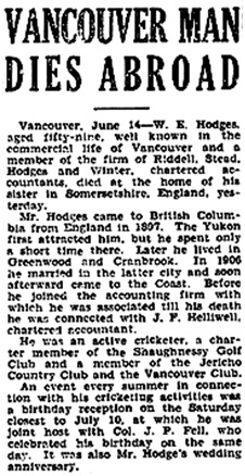 Victoria Times, June 14, 1932, page 2.