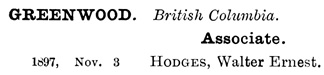 Institute of Chartered Accountants of England and Wales, List of Members, 1904, List of Members Practising or Resident out of England and Wales, page 353; https://archive.org/stream/listofmembers19000instrich#page/353/mode/1up.