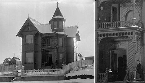 William Shannon residence, 1108 Haro Street, 1890s, Vancouver City Archives, SGN 66; [cropped version on left; detail on right]; http://searcharchives.vancouver.ca/william-shannon-residence-1108-haro-street