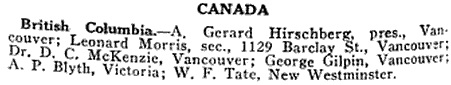 Directory of State Boards of Examiners in Optometry, The Optical Journal and Review of Optometry, Volume 50, July 5, 1922, page 88; https://books.google.com/books?id=Vz0xAQAAMAAJ&pg=PA88&lpg=PA88&dq=a+gerard+hirshberg#v=onepage&q=a%20gerard%20hirshberg&f=false.