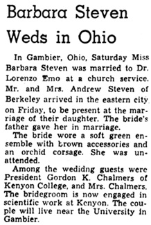 Oakland Tribune (Oakland, California), March 22, 1943, page 7, column 3.