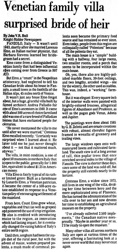 Clarion-Ledger (Jackson, Mississippi), November 9, 1980, page 66, columns 1-2.