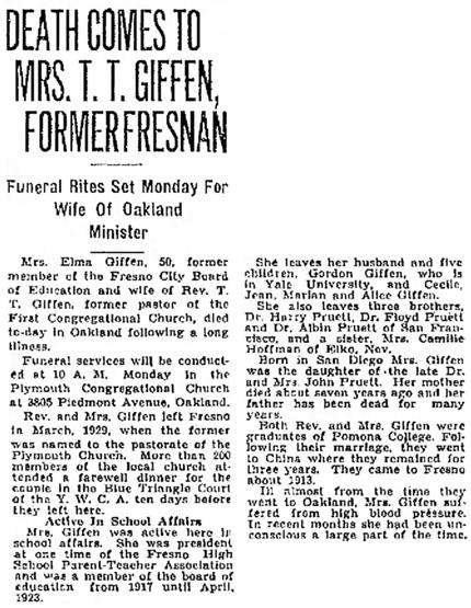 The Fresno Bee (Fresno, California), November 24, 1934, page 2, column 5.