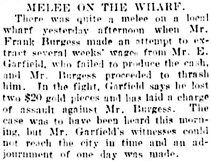 Vancouver Daily World, August 15, 1905, page 7, column 3.
