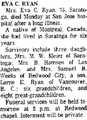 The Times, San Mateo, California, February 6, 1963, page 21, column 3.
