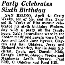 The Times, San Mateo, California, April 4, 1941, page 7, column 6.