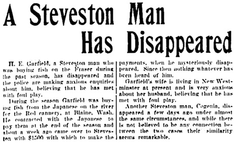 Vancouver Daily World, September 29, 1905, page 1, columns 1-2.