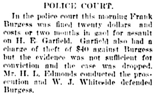 Vancouver Daily World, August 16, 1905, page 7, column 3.