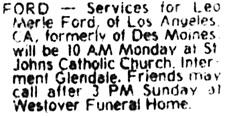 The Des Moines Register, June 8, 1986, page 25, column 6.