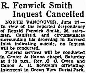 Vancouver Sun, June 27, 1930, page 2, column 3; https://news.google.com/newspapers?id=rS5lAAAAIBAJ&sjid=1IgNAAAAIBAJ&pg=2293%2C7096044.