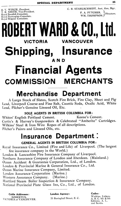Henderson's City of Vancouver Directory, 1908, page 35.
