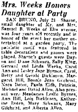 The Times, San Mateo, California, Tuesday, July 21, 1942, page 5, column 4.