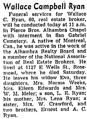 Los Angeles Times, September 21, 1949, page 46, column 1.