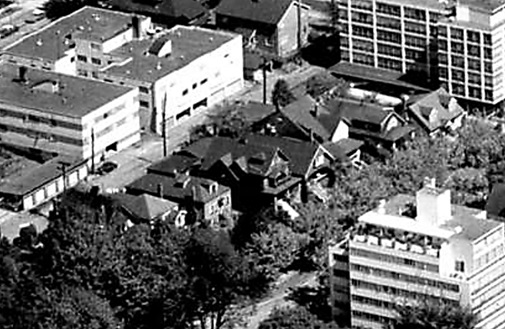 2000 block Pendrell Street (north side); West End from the air [detail], February 20, 1962; Vancouver City Archives, Air P96; http://searcharchives.vancouver.ca/west-end-from-air.