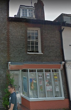 27 Lansdowne Place, Lewes, Sussex, England; Google Streets, searched December 12, 2017; image dated June 2016.