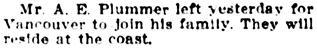 Society, Winnipeg Tribune, July 31, 1909, page 12.
