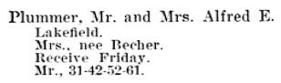 The Society Blue Book, Toronto: A Social Directory, 1902; Toronto: William Tyrrell & Co, 1902, page 82; https://archive.org/stream/bluebook190200tyrruoft#page/n81/mode/1up.
