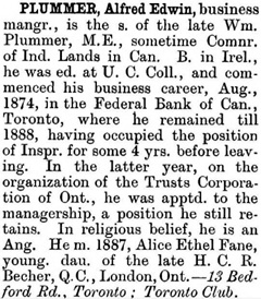 The Canadian Men and Women of the Time: A Handbook of Canadian Biography, edited by Henry James Morgan, 1898, page 824; https://archive.org/stream/cu31924028895725#page/n859/mode/1up.