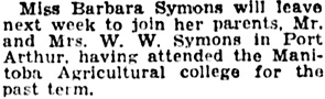 The Winnipeg Tribune, December 17, 1932, page 7, column 5.