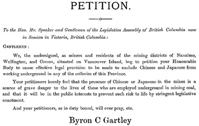 Petition to British Columbia Legislature [selected portions from pages 465 and 470]; https://open.library.ubc.ca/media/download/pdf/bcsessional/1.0063199.