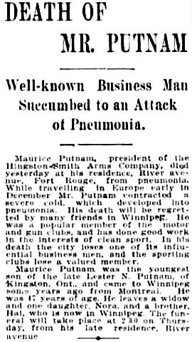 The Winnipeg Tribune, February 20, 1907, page 7, column 3.