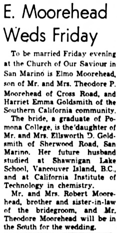 Oakland Tribune, June 7, 1950, page 45, column 5.