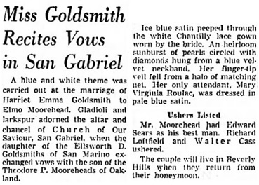 The Los Angeles Times, June 14, 1950, page 59, column 6.