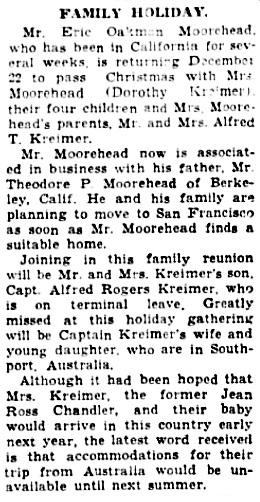 The Cincinnati Enquirer, December 15, 1945, page 6, column 1, column 2.