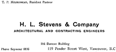 Henderson's Greater Vancouver Directory, 1912, Part 1, page 223.