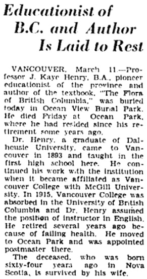 Victoria Daily Colonist, March 12, 1930, page 3, column 3; https://archive.org/stream/dailycolonist193unse_26q#page/n2/mode/1up.