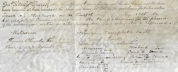 James Bay Treaty or Treaty No. 9; Thomas Clouston Rae, C.T., Hudsons Bay Co.; http://www.archives.gov.on.ca/en/explore/online/james_bay_treaty/big/p03_james_bay_treaty.aspx.