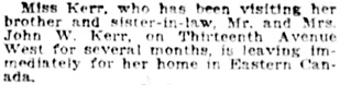 Vancouver Daily World, June 11, 1921, page 7, column 6.