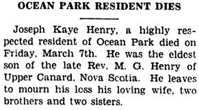 Surrey Leader, March 12, 1930, page 1, column 1.