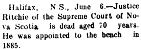 Nanaimo Daily News, June 6, 1904, page 1, column 3.