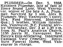 Vancouver Sun, December 2, 1958, page 32, column 4; https://news.google.com/newspapers?id=iJJlAAAAIBAJ&sjid=CYoNAAAAIBAJ&pg=1373%2C382398.