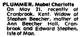 Toronto Globe and Mail, May 26, 1981, page 63.