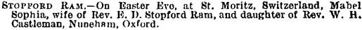 Guardian (London, England); April 20, 1898, page 13, column 3.
