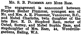The Times (London, England), February 9, 1923, page 13, column 2.