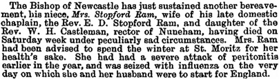 Guardian (London, England), April 20, 1898, page 7, column 3.