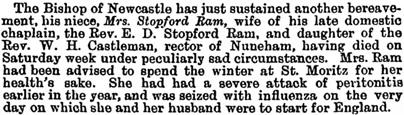 Guardian (London, England), April 20, 1898, page 7, column 3.
