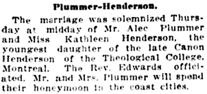 Vancouver Daily World, October 7, 1912, page 9, column 6.