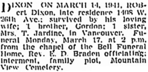 Vancouver Sun, March 15, 1941, page 17, column 8; https://news.google.com/newspapers?id=fzFlAAAAIBAJ&sjid=KokNAAAAIBAJ&pg=4204%2C3587715.