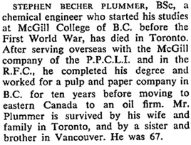 UBC Alumni Chronicle, September 30, 1961, page 13; https://open.library.ubc.ca/collections/ubcpublications/alumchron/items/1.0224206#p11z-2r0f: