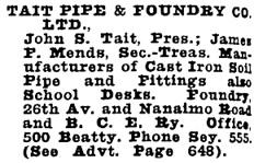 Wrigley Henderson Amalgamated BC Directory, 1924, page 1094.