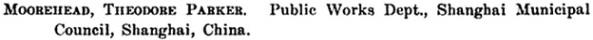 Proceedings of the American Society of Civil Engineers, Volume 45, 1919, page 390; https://books.google.com/books?id=RLxMAAAAYAAJ&pg=PA390&lpg=PA390&dq=%22moorehead#v=onepage&q=%22moorehead&f=false.
