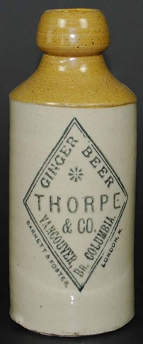 Thorpe & Co., Vancouver, pint ginger beer, Maple Leaf Auctions, Western Ginger Beers; Spring 2015; http://www.mapleleafauctions.com/auctions/auction_details.cfm?id=2011.