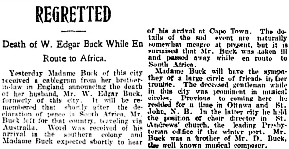 Vancouver Daily World, October 10, 1902, page 8, column 4.