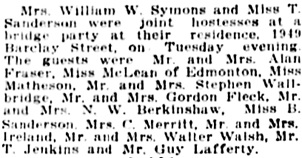 Vancouver Daily World, April 19, 1921, page 6, columns 2-3.